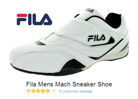 Fila Mach Sneaker with Velcro Closure.
