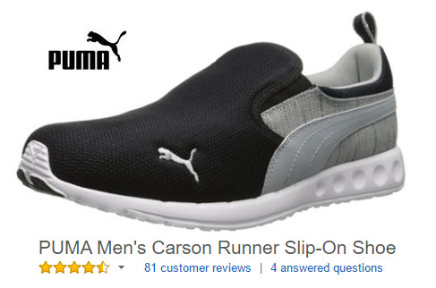 Puma sneakers without laces slip on shoes