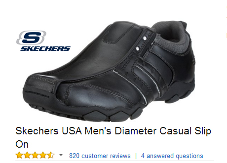 Skechers USA Diameter Casual Slip On.