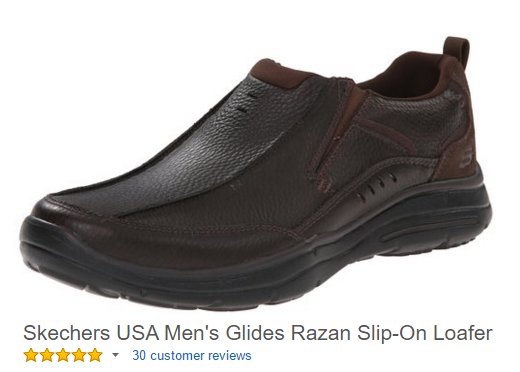 Skechers slip ons men's work shoe.