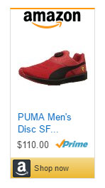 red puma sneakers disc for men.