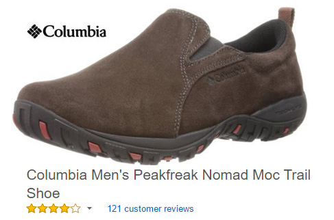 Columbia trail shoes without laces.