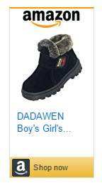 Dadawen velcro winter boots for kids