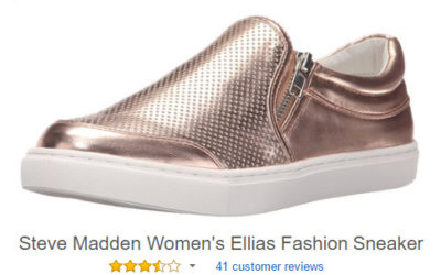 Slip on shoes with zipper: Steve Madden Ellias