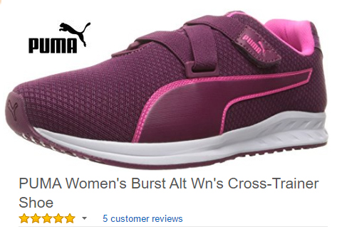 Puma purple sneakers for women trainers without laces