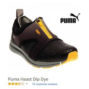 puma sneaker with zipper dip dey