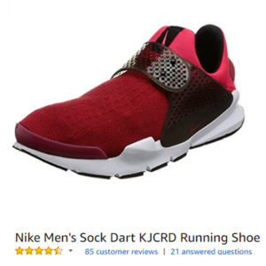 nike sock dart running shoes