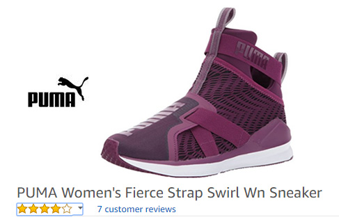 purple laceless sneakers by Puma