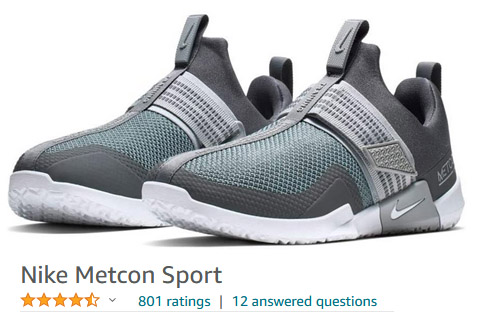 Nike metcon sport sneakers lift hook and loop
