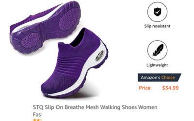 STQ Slip-on Comfort Wedge Platform Loafers