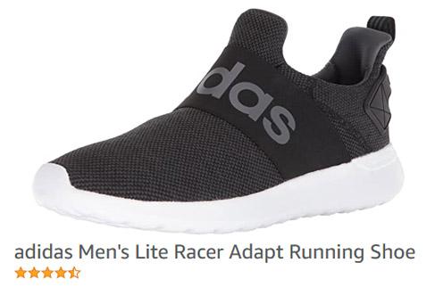 Adidas Men's Lite Racer Adapt Running Shoes no strings